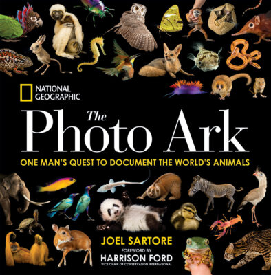 The Photo Ark book: One Man's Quest to Document the World's Animals This lush book of photography represents National Geographic's Photo Ark, a major cross-platform initiative and lifelong project by photographer Joel Sartore to make portraits of the world's animals—especially those that are endangered.