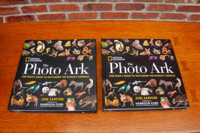 Photo: Details of Joel Sartore Photography books for sale images.