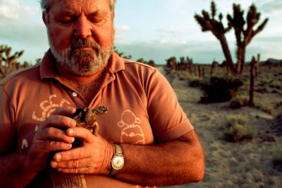 Photo: Activist Eldon Hughes, shown at Joshua Tree National Monument in California's Mojave Desert has worked to protect the desert habitat of the threatened desert tortoise.