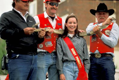 """Photo: The """"Rattlesnake Queen"""" at a derby in Mangum, OK."""