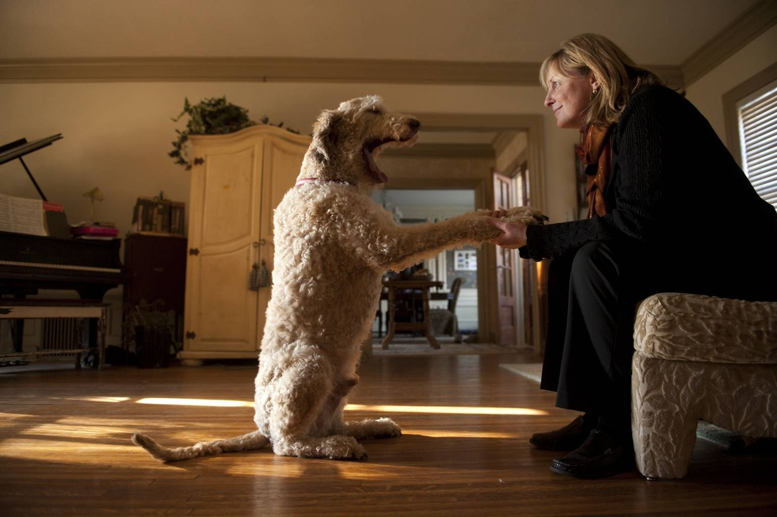 Photo: A woman and her dog, Muldoon.