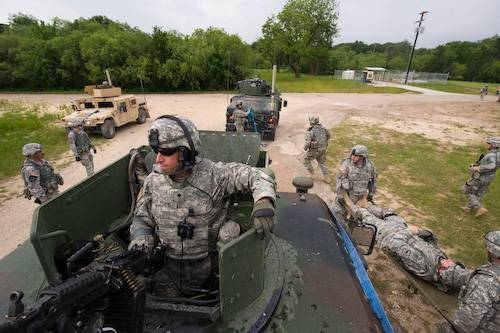 Photo: Army soldiers doing training exercises at Fort Hood in Killeen, Texas.