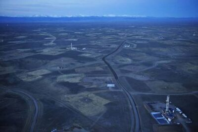 Photo: Aerials of the Jonah Field in the Green River Basin, Wyoming.