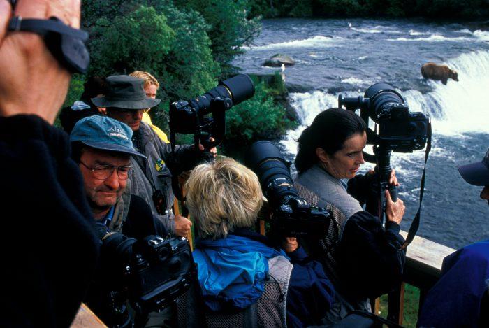 Photo: Brooks Falls in Alaska's Katmai Nat'l Park and Preserve is a popular tourist spot.