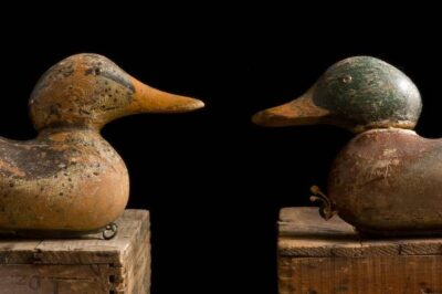 Photo: Antique duck decoys from the turn of the century.