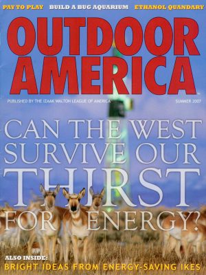 Photo: Joel Sartore's photograph of pronghorn antelope is featured on the cover of the Summer, 2007 issue of Outdoor America magazine.