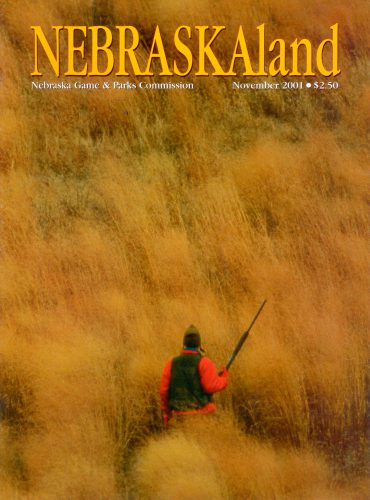 Photo: The cover of the November, 2001 issue of NebraskaLAND magazine, featuring a photograph by Joel Sartore.