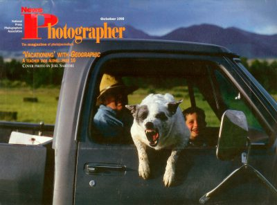 Photo: The cover of the October, 1998 issue of News Photographer, featuring a photo by Joel Sartore.