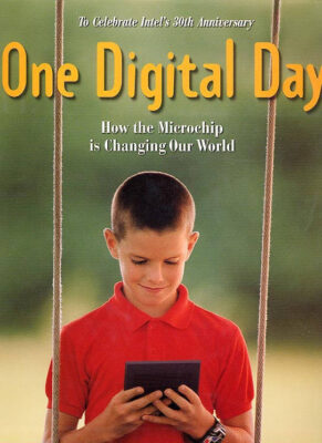 Photo: Joel Sartore's photo of a boy in rural America is featured on the cover of One Digital Day, a book published in 1998.