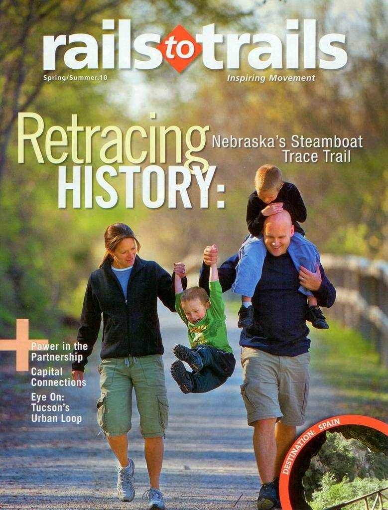 Photo: Joel Sartore's photograph of a family is featured on the cover of the Spring/Summer 2010 issue of Rails to Trails magazine.