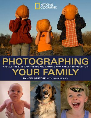 Photo: The cover of Photographing Your Family by Joel Sartore.