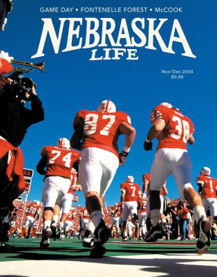 Photo: JOel's photograph of football players featured on the cover of the November/December 2004 issue of Nebraska Life Magazine.