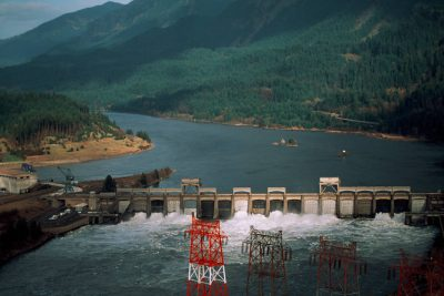 Photo: Hydroelectric dams like the Bonneville on the Columbia R. cause problems for salmon.