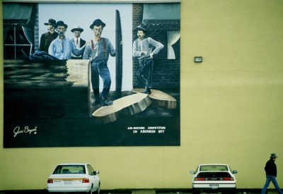 Photo: Logging mural in a small town near Seattle, WA.