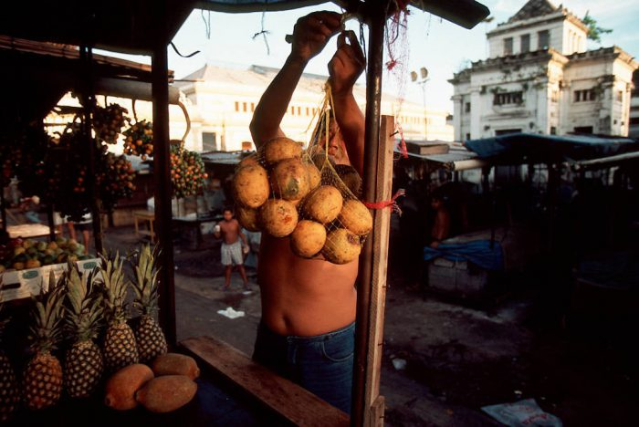Photo: Forest fruit from the Amazon is sold at a market in Belem, Brazil.