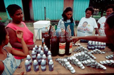 Photo: Medicines made from rain forest plants provide much needed income for the residents of Quiandeua, a village in the Brazilian Amazon.