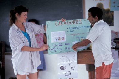 Photo: A forest fruits workshop led by Patricia Shanley in Quiandeua, a small village on the Brazilian Amazon.