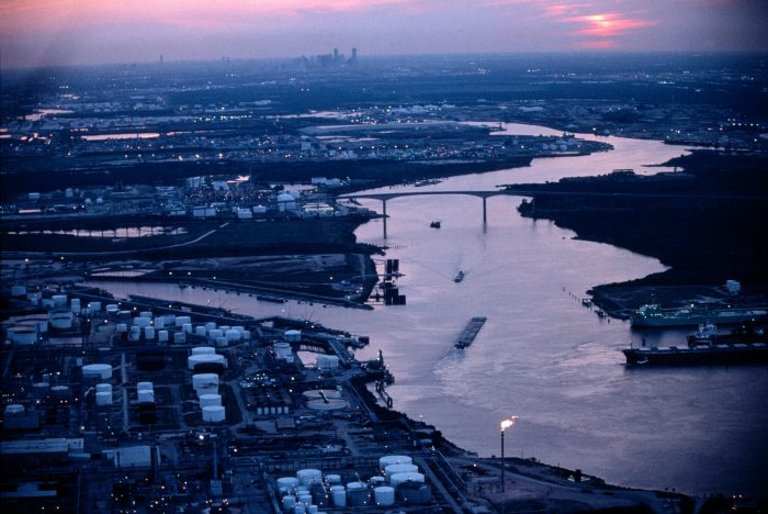 Photo: The Houston ship channel flows through what used to be native coastal prairie.