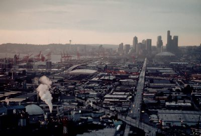 Photo: Overview of the industrial area of Seattle, WA.