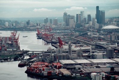 Photo: Overview of the ports of Seattle, WA.