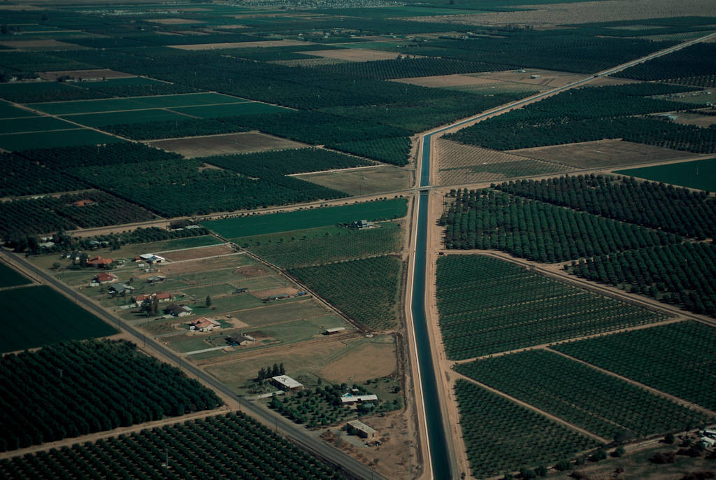 Photo: An aqueduct in California's Central Valley -- premier agricultural area.