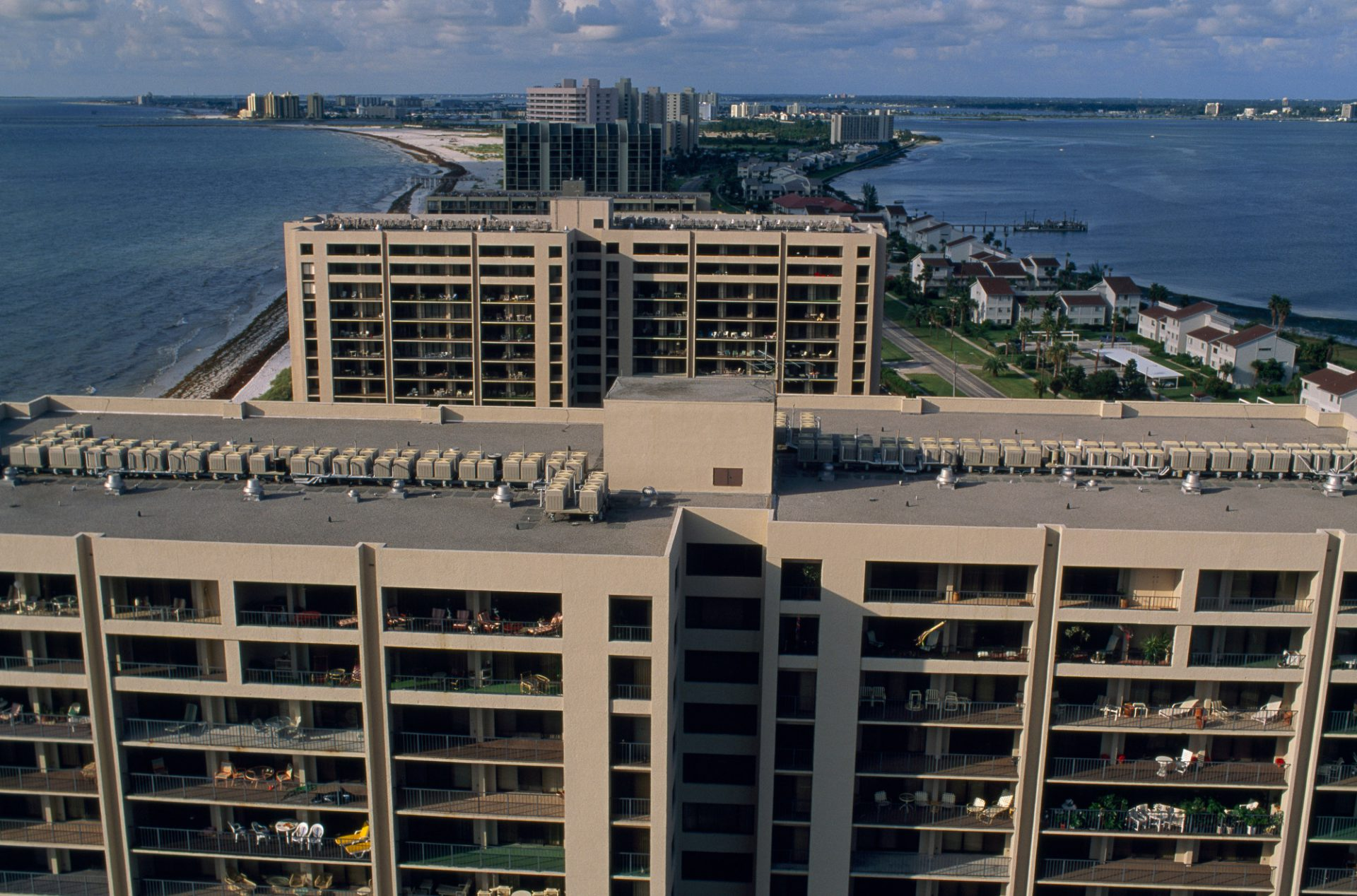 Photo: Condominiums along Sand Key along the Gulf of Mexico near Clearwater-St. Petersburg, Florida.