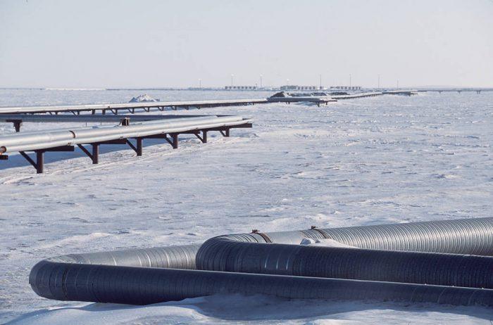 Photo: Oil fields in Prudhoe Bay, Alaska.