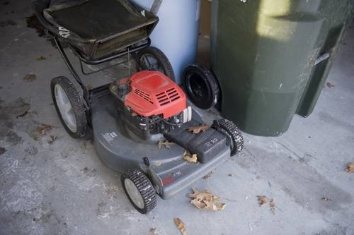 Photo: A lawnmower, rescued from the curb on garbage night in Lincoln, Nebraska.