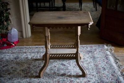 Photo: An antique table found on the curb on garbage night.