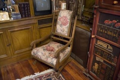 Photo: An antique rocking chair, rescued from the curb on garbage night.