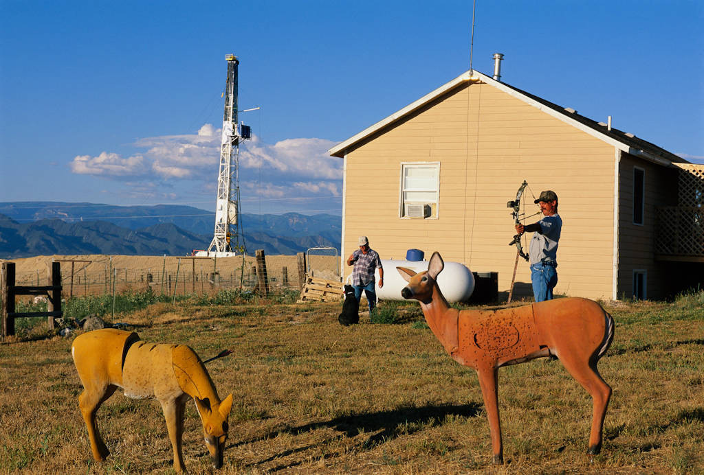 Photo: Coal bed methane drilling near this house near Rifle, CO scared off the local elk herd and destroyed the property value.