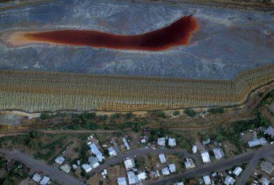 Photo: Aerials of a copper mine in Arizona.