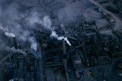 Photo: Aerial of the Chuquicamata mining complex in Chile's Atacama Desert.