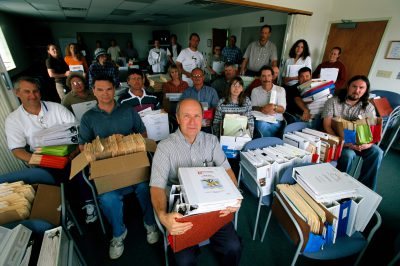 Photo: The BLM office in Buffalo, WY approved 3000 natural gas drilling permits in 2004, generating a small mountain of paperwork.