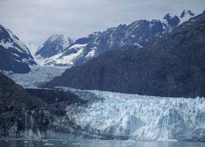 Photo: The effects of global warming and climate change are shown through early melting of sea ice and diminishing glaciers.