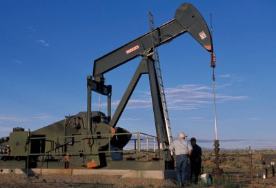 Photo: Gas and oil companies have dotted Fidel Candelavia's ranch with wells despite his attempts to stop it.