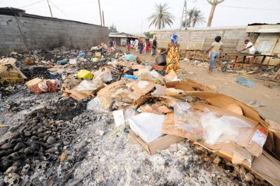Photo: The market in Malabo, Equatorial Guinea, Africa, where garbage piles up at a tremendous rate.