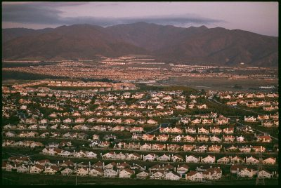 Photo: South of Los Angeles the implacable sprawl of single-family homes like these has reached critical mass.
