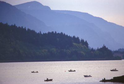Photo: Sport fishing for salmon on the Columbia River.