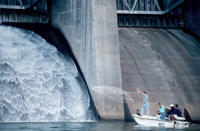 Photo: Because it threatened the endangered snail darter's habitat, construction of the Telico Dam (TN) was held up under the Endangered Species Act.