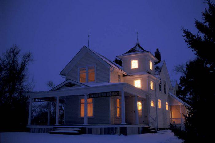 Photo: Historic Waveland Farm, near Bennett, Nebraska, on a winter evening.