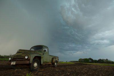Photo: A 1951 International Harvester pickup truck at a farm near Bennet, Nebraska.