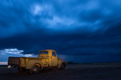 Photo: A 1951 International Harvester pickup truck at a farm near Bennet, Nebraska.