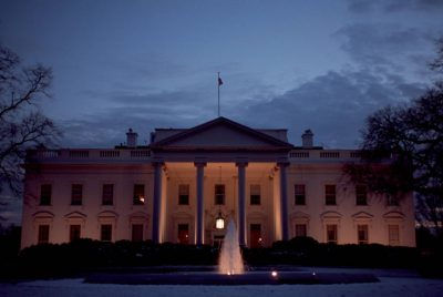 Photo: The White House in winter.