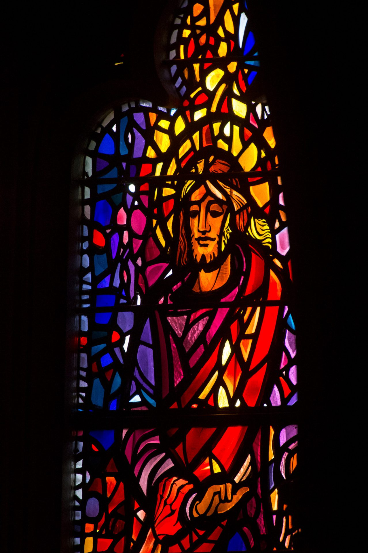Photo: A stained glass window at the Washington National Cathedral in Washington, D.C.
