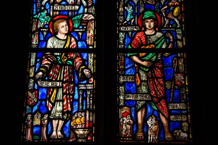 Photo: A stained glass windows at the Washington National Cathedral in Washington, D.C.