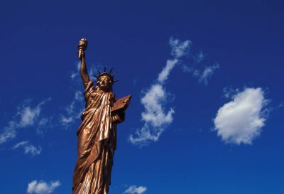 Photo: A replica of the Statue of Liberty near Smith Center, Kansas.