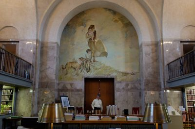 Photo: The Law Library in the Nebraska State Capitol Building in Lincoln.