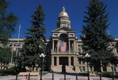 Photo: The Wyoming State Capitol building in Cheyenne, Wyoming.