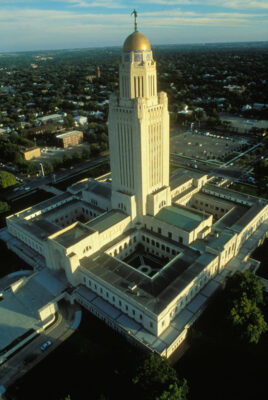 Photo: The State Capitol building in Lincoln, Nebraska.